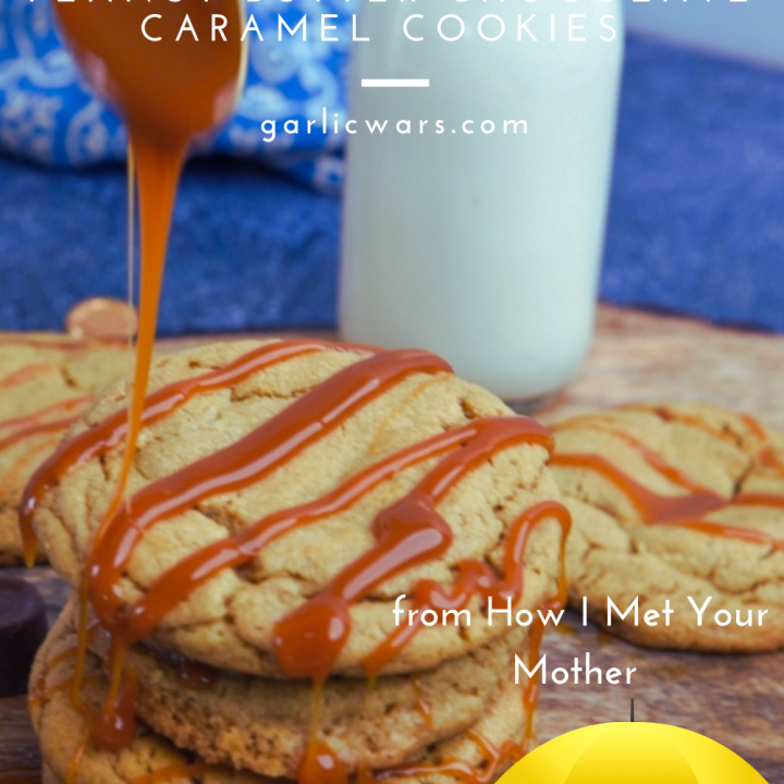 peanut butter chocolate caramel sumbitches cookie pin